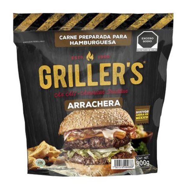Oferta de Carne para Hamburguesa Griller's 1 paquete con 8 piezas por $91.5