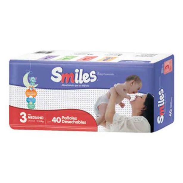 Oferta de Pañal Smiles Mediano 40 Piezas por $121.7