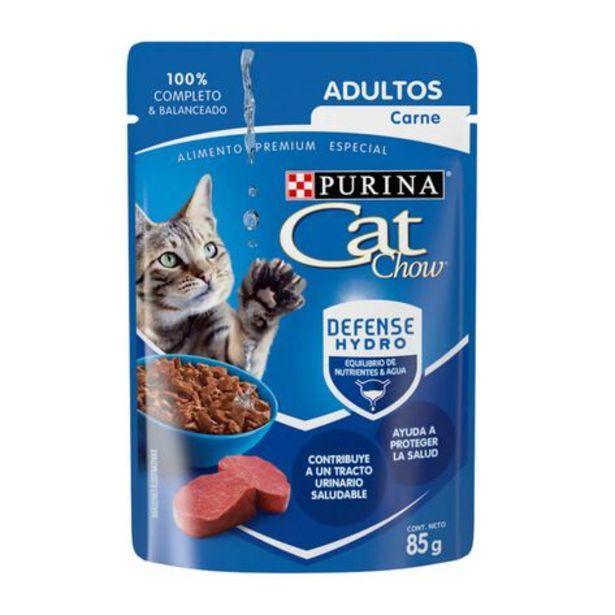 Oferta de Alimento para Gato Cat Chow WET Adulto Carne 85 g por $13.9