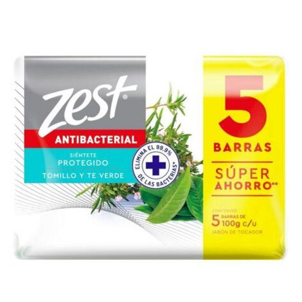 Oferta de Jabón Zest Tomillo Y Te Verde 5 Pack por $3850