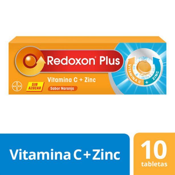 Oferta de Redoxon Plus Vitamina C + Zinc 10 Tabletas Efervescentes por $9500