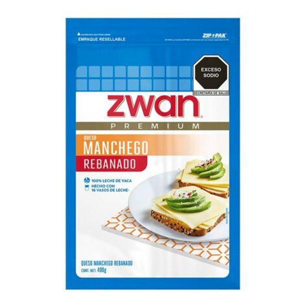Oferta de Queso Manchego Rebanado Zwan 400 g por $66