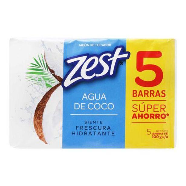 Oferta de Jabón en Barra Zest Agua de Coco Pack con 5 Piezas por $3850