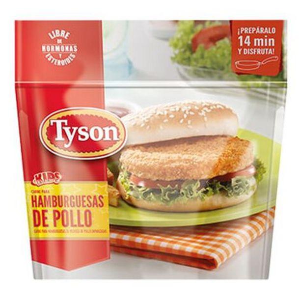 Oferta de Carne Para Hamburguesa Tyson De Pollo Empanizado 750 g por $118