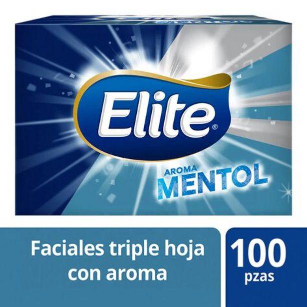 Oferta de Pañuelo Elite Mentol 100 Pz por $33.5
