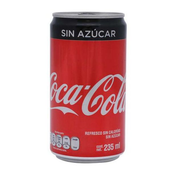 Oferta de Refresco Coca Cola Sin Azucar 235 Ml Lat por $9