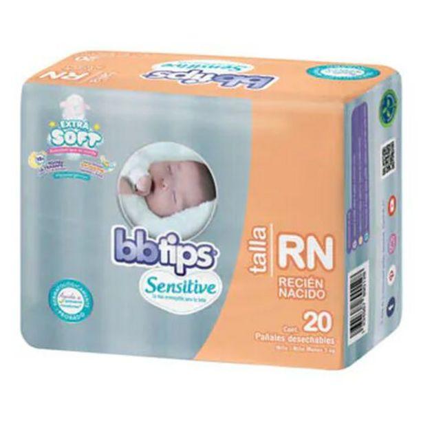 Oferta de Pañal BB Tips Recién Nacido 20 Piezas por $58.9
