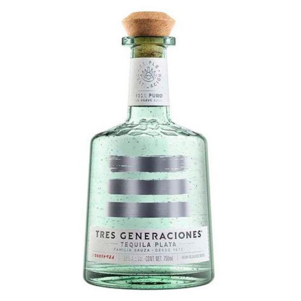 Oferta de Tequila 3 Generaciones  Plata 750 ml por $569