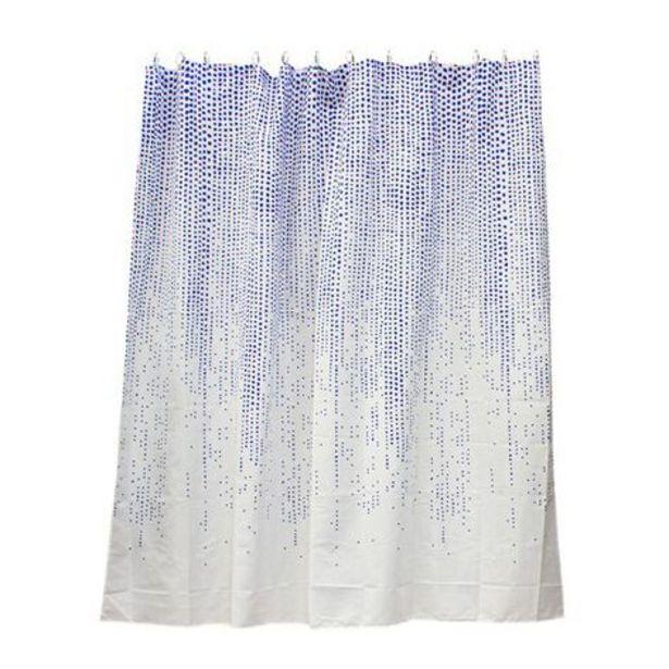 Oferta de Cortina de Baño Poly Rain Dib Azul por $189