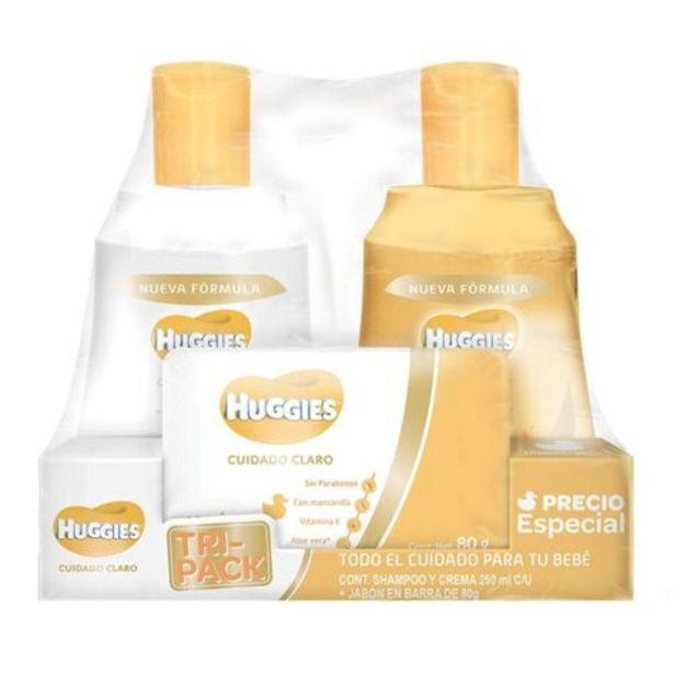 Oferta de Shampoo Huggies 3 Piezas Cuidado Claro por $99