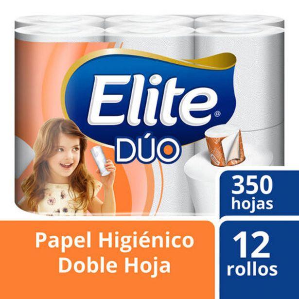 Oferta de Papel Higiénico Elite Dúo 12 rollos por $69