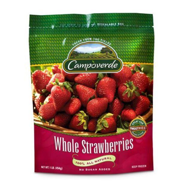 Oferta de Frutas Congeladas Campo Verde Whole Strawberry 454 gr por $88.5