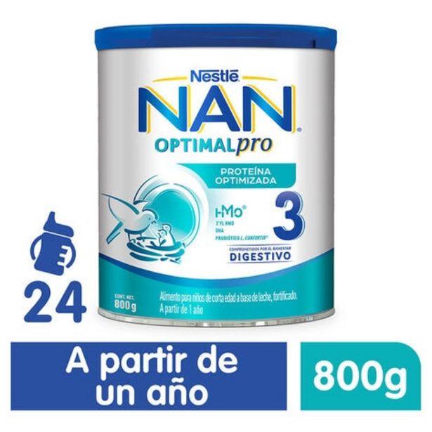 Oferta de Fórmula Nan Optipro Etapa 3 Lata 800 gr por $190