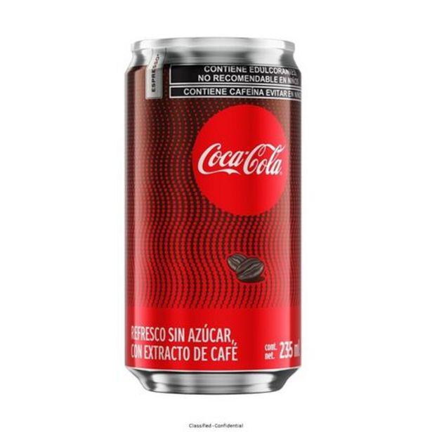 Oferta de Refresco Coca Cola Café 235 Ml Lat por $10
