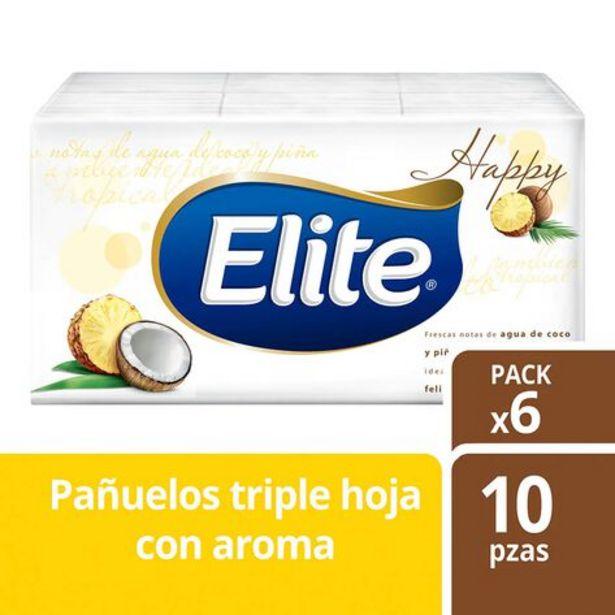 Oferta de Pañuelos Faciales Elite Pocket Aromo Coco Piña 1 paquete con 6 pzas por $2090