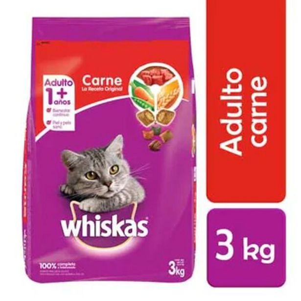 Oferta de Alimento para Gato Adulto Whiskas Carne 3 Kg por $222