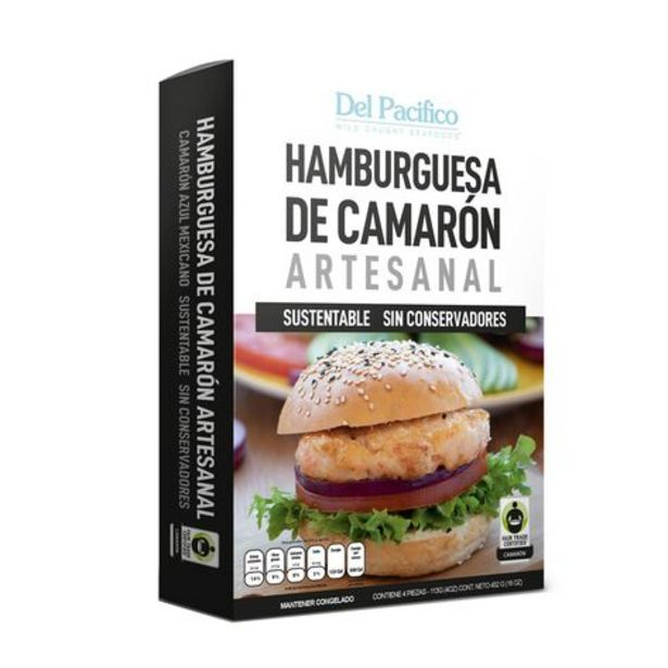 Oferta de Hamburguesa de Camarón Azul 1 Lb por $222