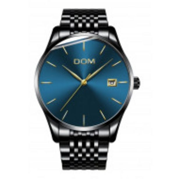 Oferta de Reloj Hombre Casual De Moda Elegante Acero Inoxidable por $849