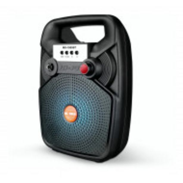 Oferta de Bocina Bluetooth 6.5 Pulgadas Negra Portatil por $859