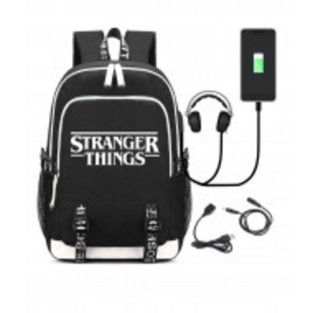 Oferta de Jim Hopper mochila Escolar Negra De Gran Capacidad por $999