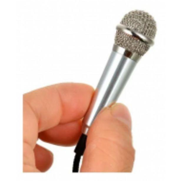 Oferta de Mini Micrófono 3.5mm Para Celular Computadora iPhone Karaoke por $509