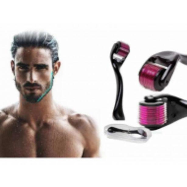 Oferta de Dermaroller Facial Barba 0.5 Mm Titanio Regenera Colágeno por $539