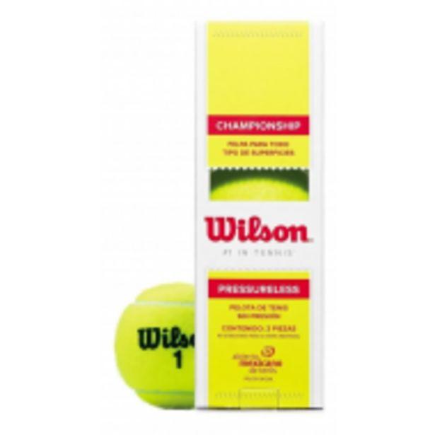 Oferta de Pelota De Tenis Championship Sin Presion Wilson por $639