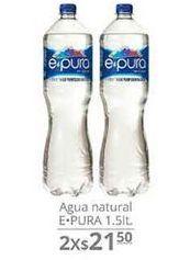 Oferta de Agua Natural 1.5 Lt  por $21.5