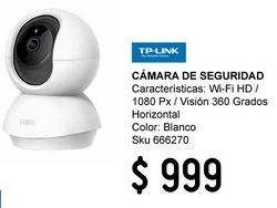 Oferta de Cámara de Seguridad Wi-Fi HD 1080P Visión 360 Grados Horizontal por $999