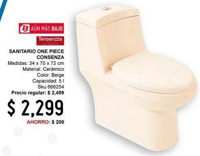Oferta de WC One Piece Cosenza Marfil por $2299