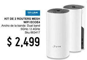 Oferta de Kit 2 piezas sistema de Wi-Fi Deco E4 AC1200 en malla TP-LINK para toda la casa por $2499