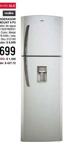 Oferta de Refrigerador Top Mount con Despachador de Agua 9 Pies por $7699