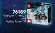 Oferta de Juguetes LEGO Captain america and hydra Face-off por