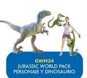 Oferta de Dinosaurios Jurassic World pack personaje y dinosaurio por