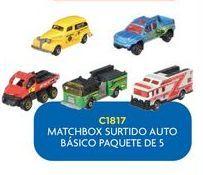 Oferta de Auto de juguete matchbox surtido basico paquete de 5  por