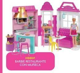 Oferta de Muñecas Barbie restaurante con muñeca por