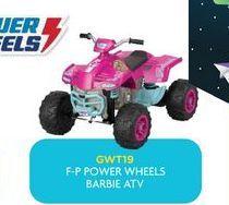 Oferta de Vehículos de juguete powe wheels Barbie ATV por