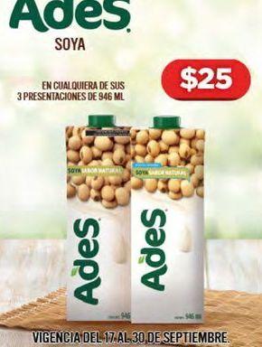 Oferta de Leche de soja Ades por $25