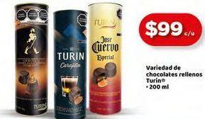 Oferta de Variedad de chocolates rellenos Turin 200ml por $99