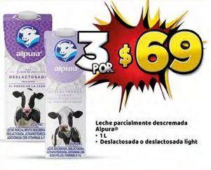 Oferta de Leche desnatada Alpura 1L x3 por $69