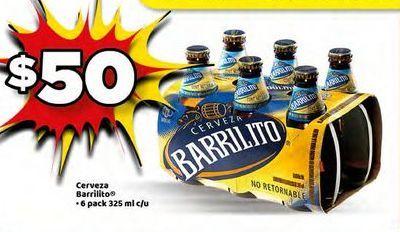 Oferta de Cerveza Barrilito 6 pack 325ml por $50