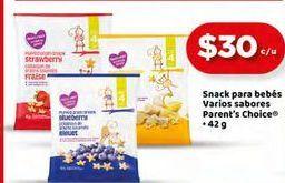 Oferta de Snack para bebés Parent`s Choice por $30