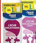 Oferta de Leche desnatada Great Value por $25