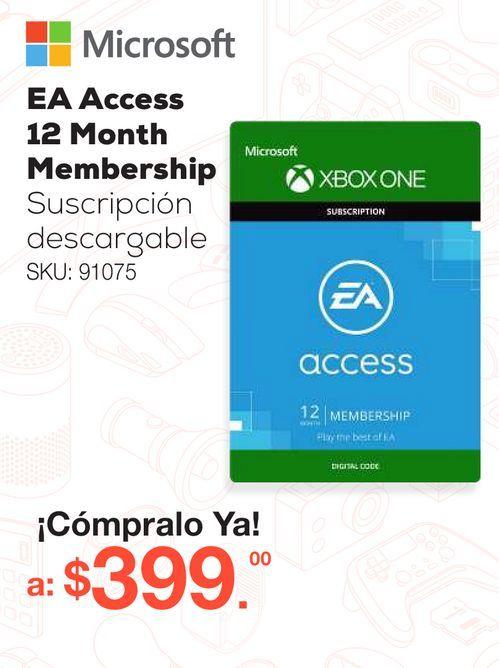Oferta de EA Access 12 Month Membership / Suscripción descargable / Xbox One por $399
