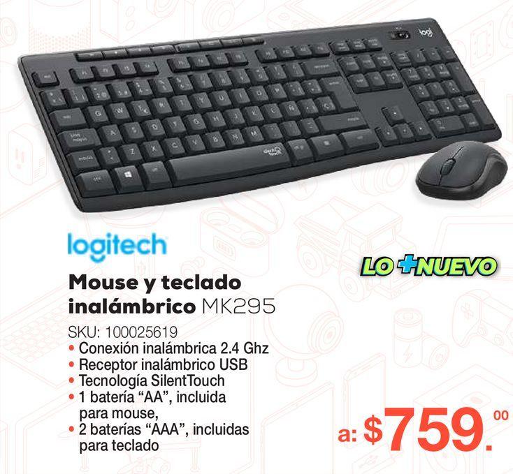 Oferta de Teclado y Mouse Inalámbrico Logitech / Negro por $759