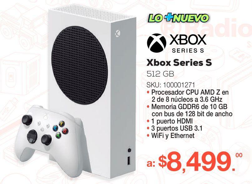 Oferta de Consola Xbox Series S / 512 gb SSD / Blanco por $8499