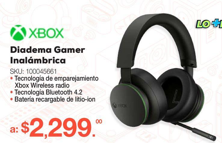 Oferta de Audífonos Gamer Inalámbricos Microsoft Xbox / Xbox Series / Xbox One / Negro por $2299