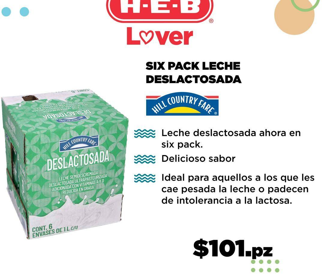 Oferta de Leche sin lactosa HEB por $101