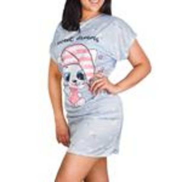 Oferta de Camisón para Dama Azul Claro Sweet Dreams por $29.99