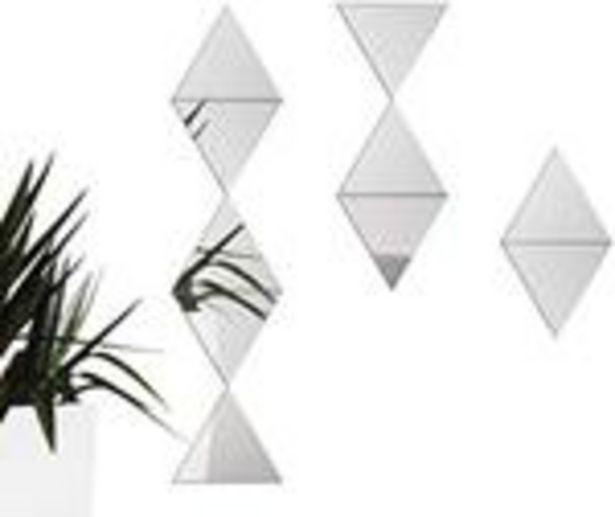 Oferta de Set de 6 Espejos Adhesivos Triángulo Inkanto por $39.99